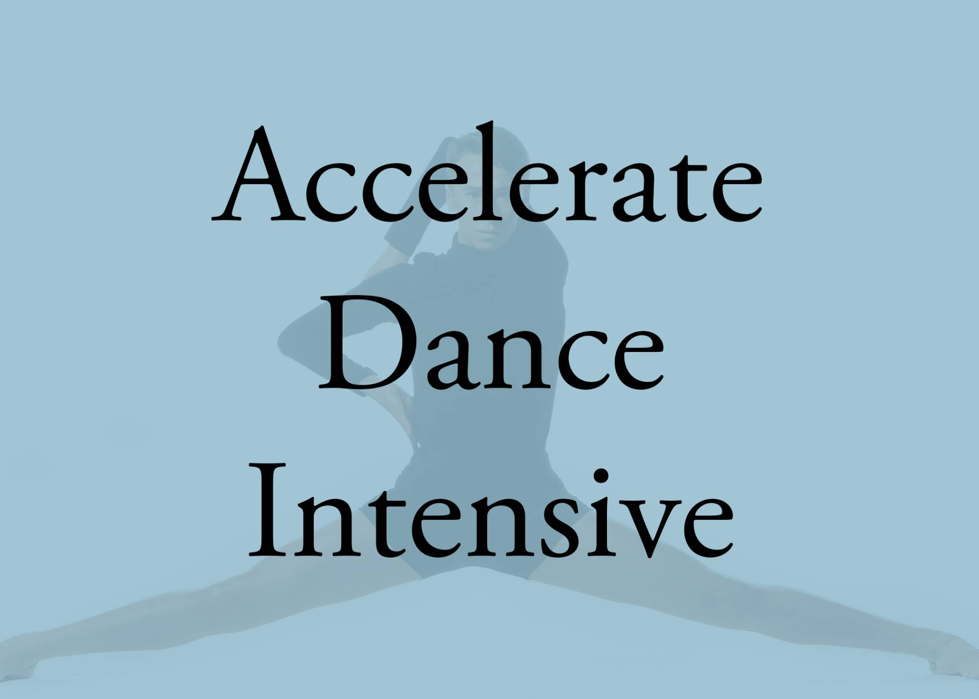 accelerate dance intensive button